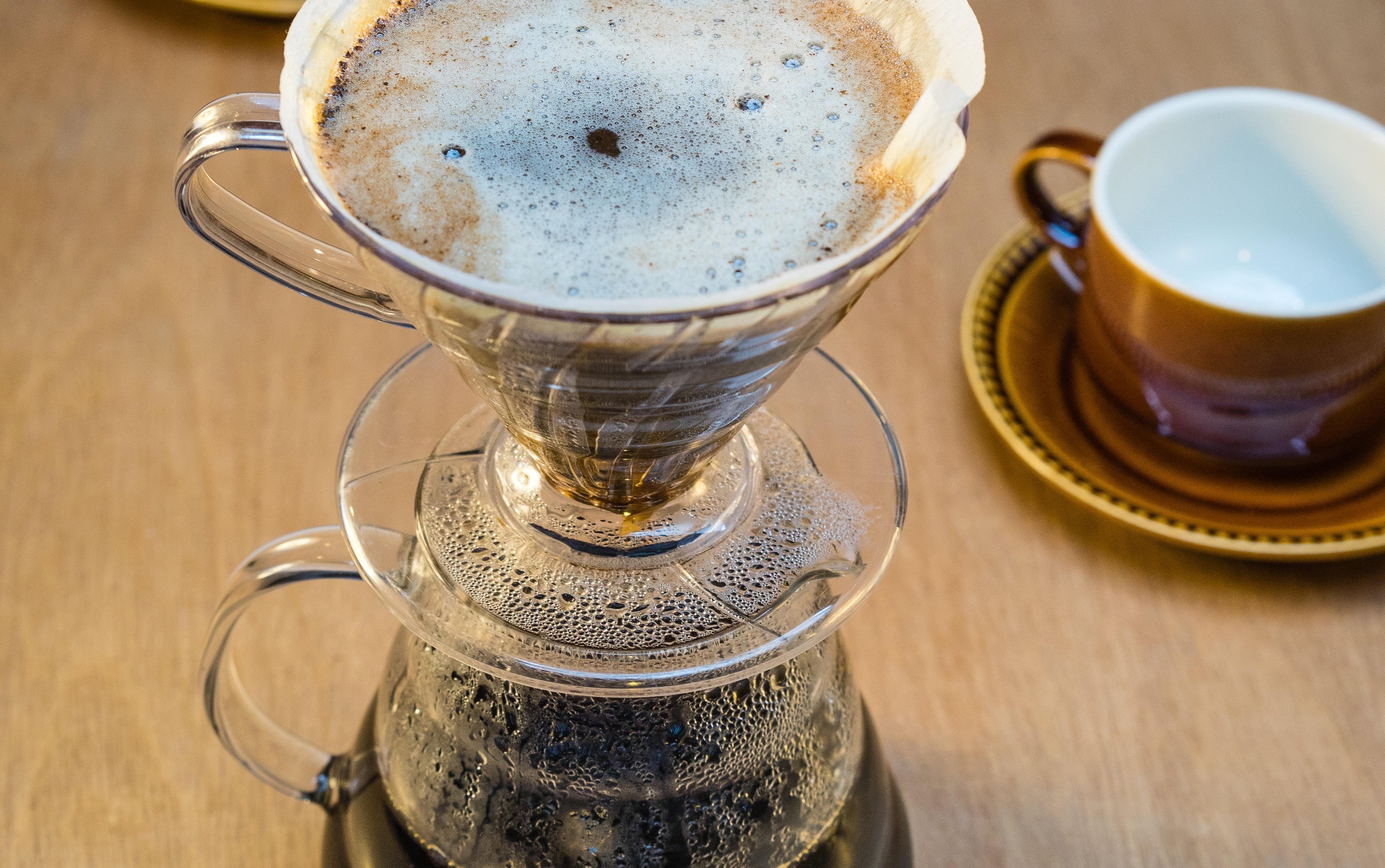 filterkoffie opgieten